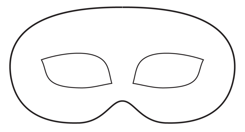 Mask clipart printable. Free templates download clip
