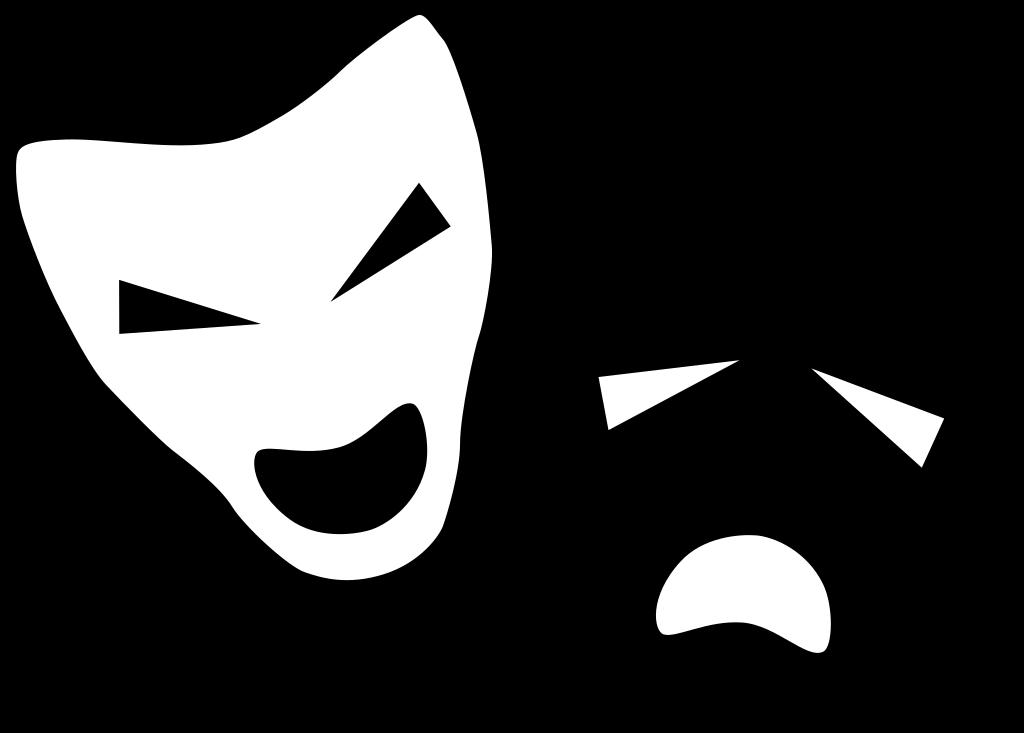 Mask clipart symbol. File drama icon svg
