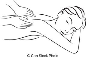 Massage clipart black and white. Free download clip art