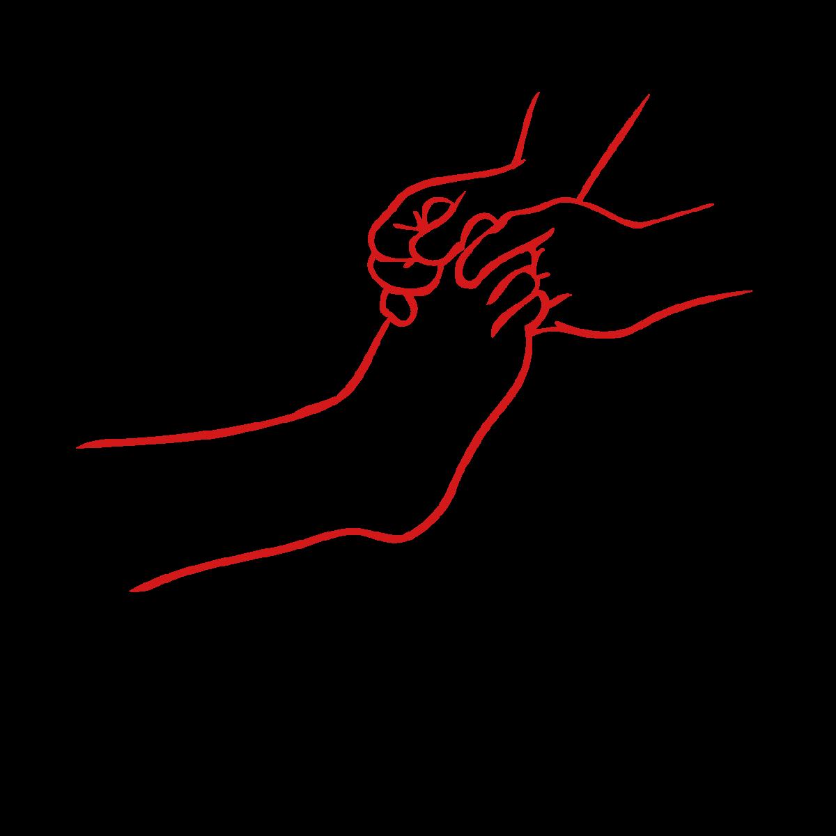 massages clipart foot rub