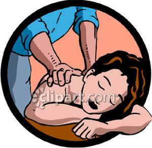 Woman enjoying a royalty. Massage clipart relaxing
