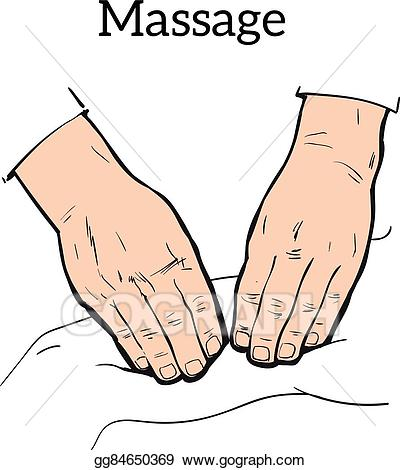 Eps illustration manual massage. Therapy clipart therapeutic