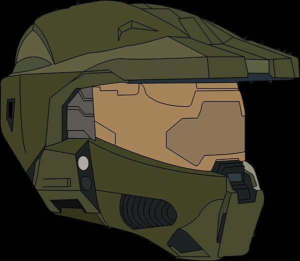 Master chief helmet png. Vectors on behance