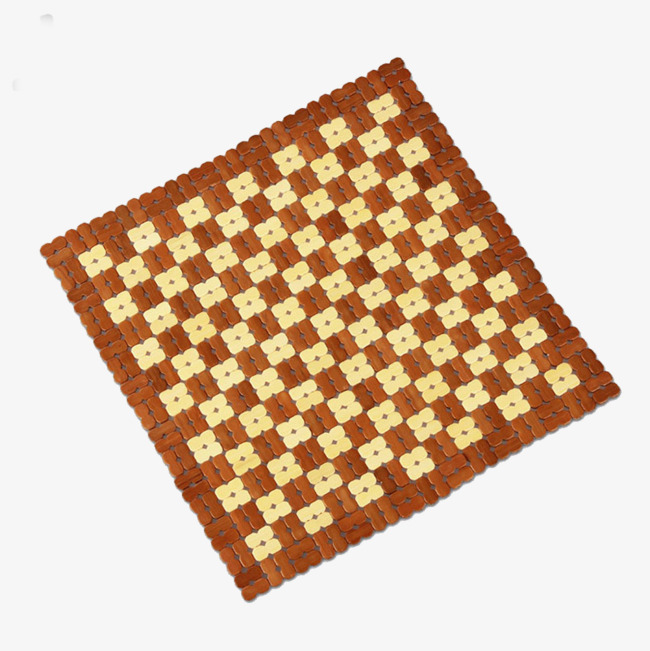 Mat clipart. Square bamboo insulation pads