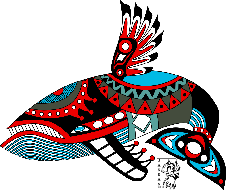 Windfish haida tattoo by. Salmon clipart aboriginal symbol