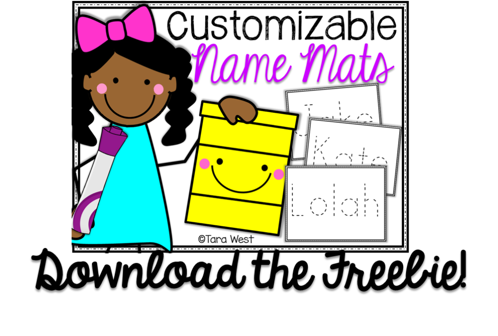Nervous clipart class. Freebie customized name mats