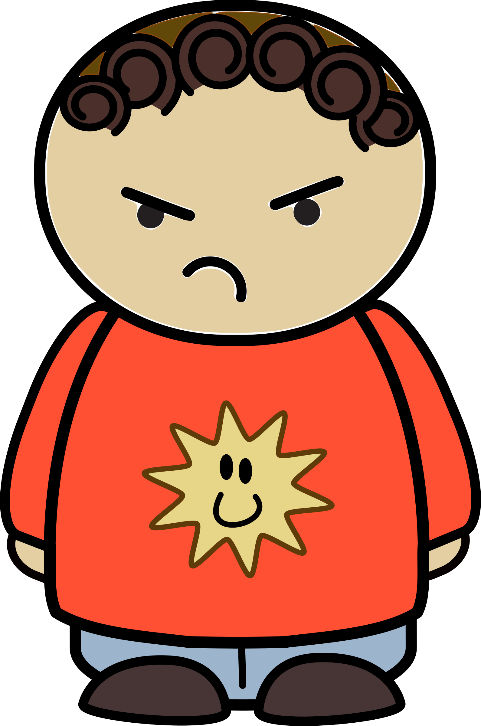 Mix and match character. Patient clipart unhappy