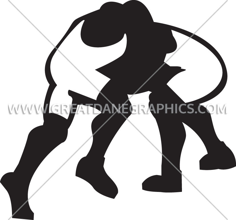Wrestling production ready artwork. Match clipart illustration