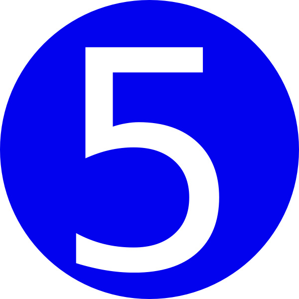 Blue rounded with clip. Number 1 clipart 1blue