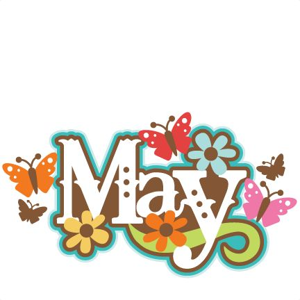Free may clip art. January clipart title