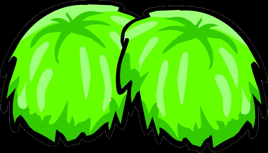 White clipart pom pom. Image green pompoms png