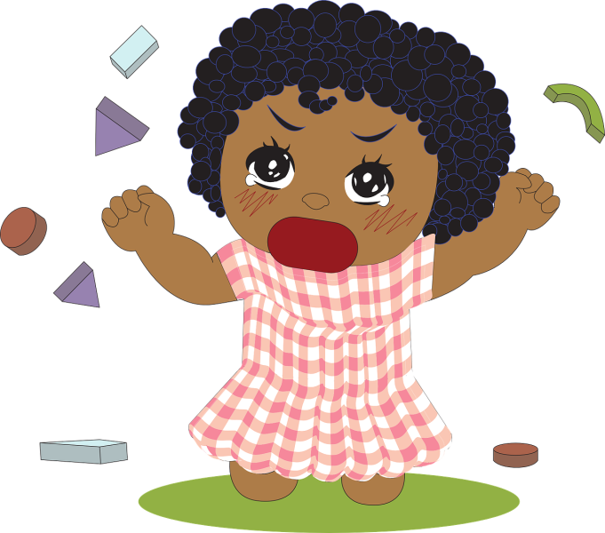 Why a stubborn child. Toddler clipart manipulative