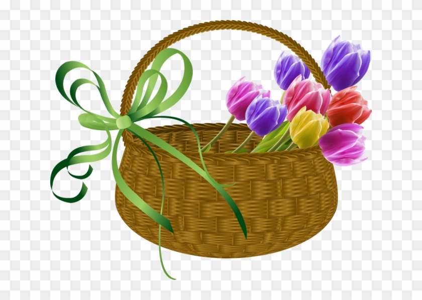 Flower free clip art. May clipart may basket