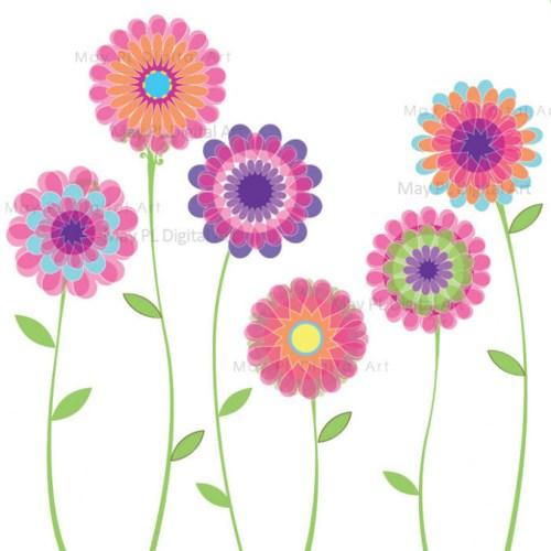 May clipart modern flower.  flowers clip art