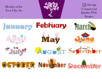 Months of the clip. May clipart month year