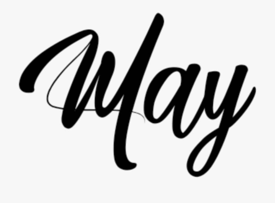 Months inscription inscriptionmay . May clipart month year
