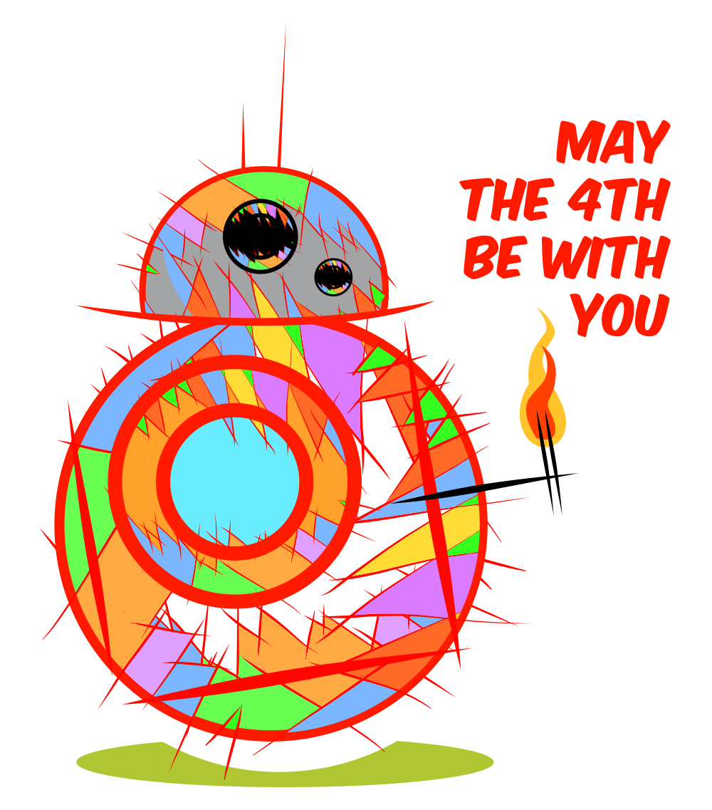 Starwars clipart may the fourth be with you. Th bb cartoon on