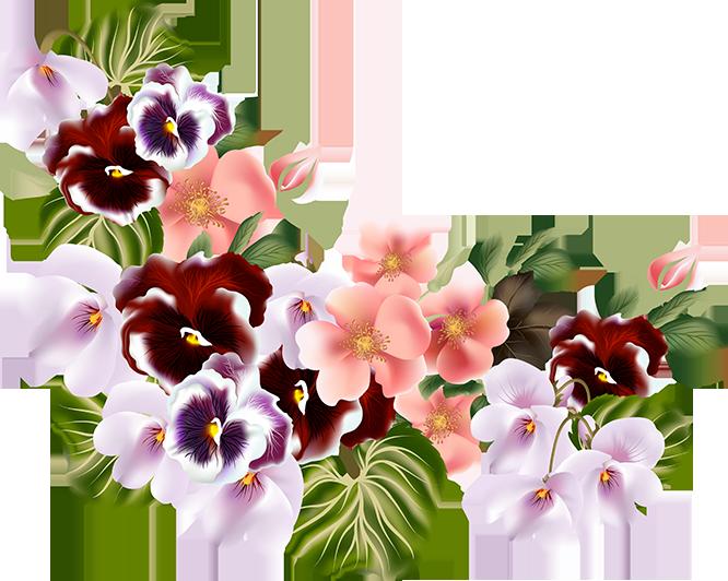 Tubes fleurs bouquets flores. Mayflower clipart colorful flower