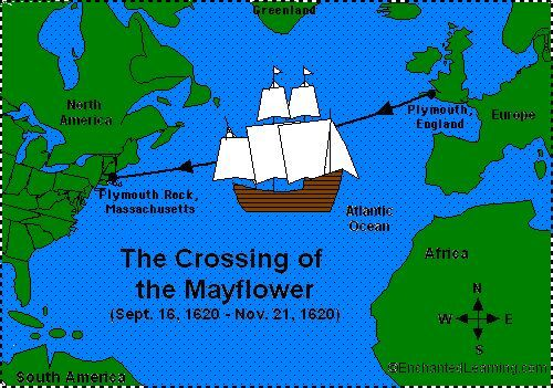 Voyage map from enchanted. Mayflower clipart journey