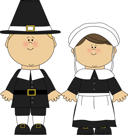 Pilgrim clipart kid. Boy and girl clip