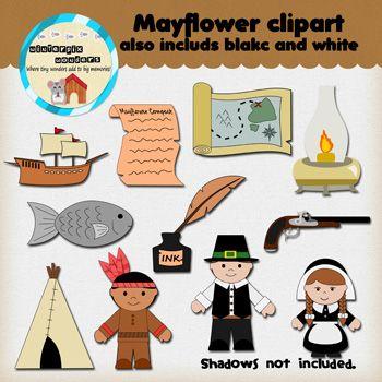 Compact pilgrim . Mayflower clipart native american
