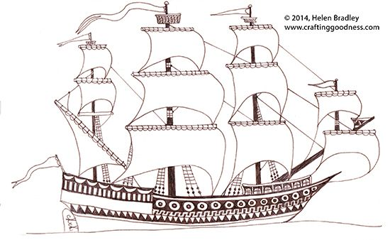 Mayflower clipart odysseus boat. Spanish galleon sailing ship