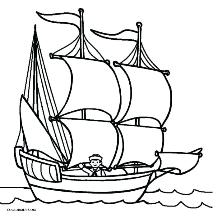 Ship drawing for kids. Mayflower clipart odysseus boat
