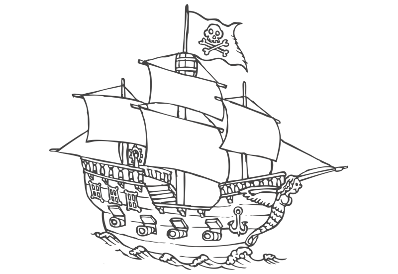 Easy drawing at getdrawings. Mayflower clipart pirate ship