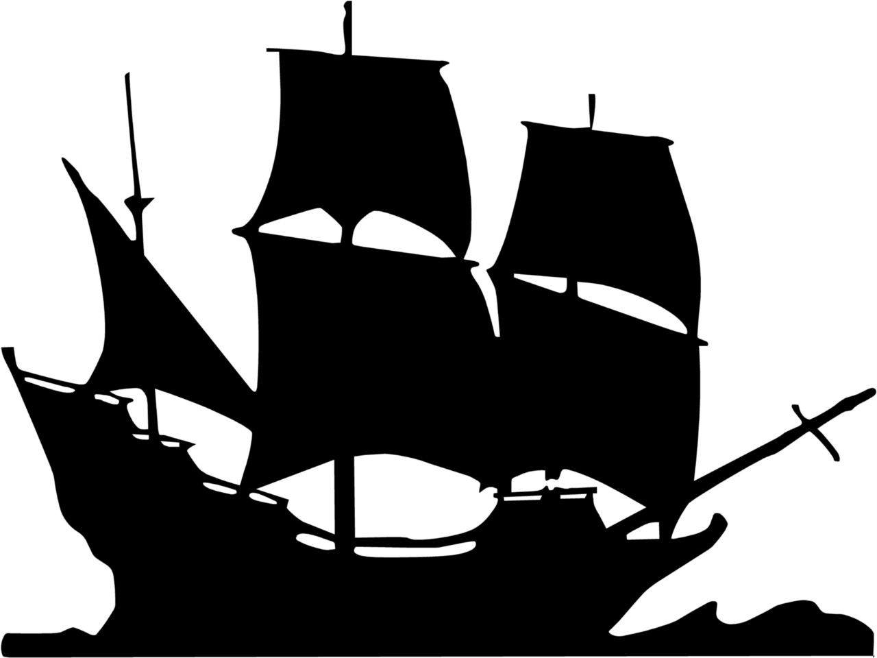 Mayflower clipart pirate ship. Details about anchor wall