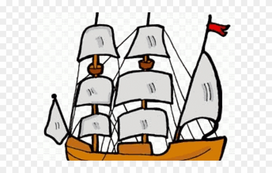 Mayflower clipart pirate ship. Png download
