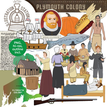 Plymouth colony thanksgiving clip. Pilgrims clipart early settler