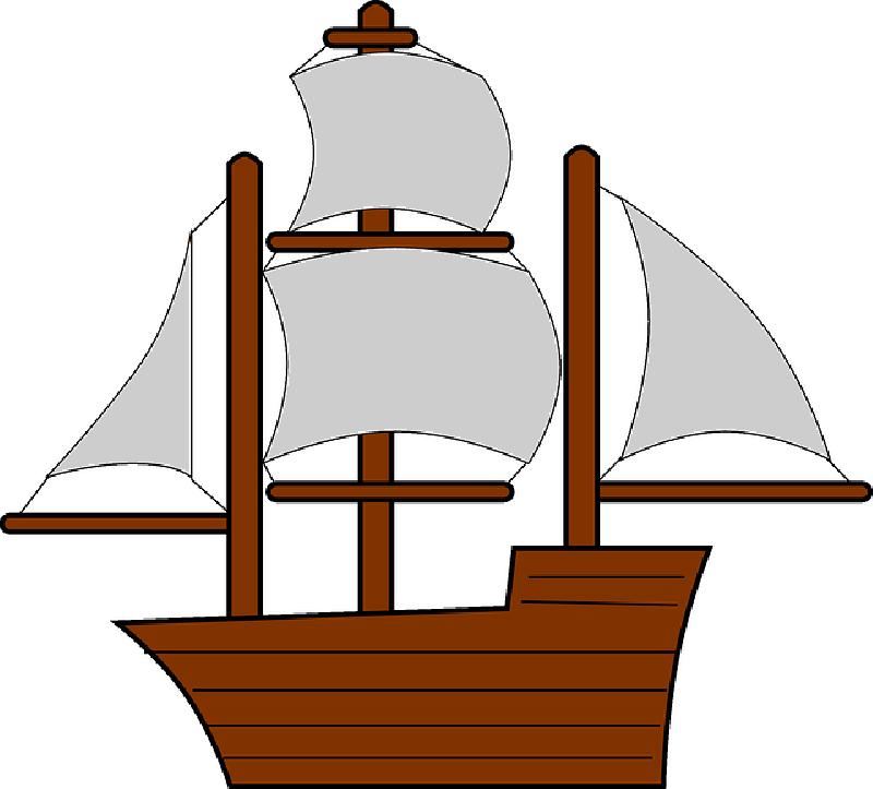 Mayflower clipart sail boat. Old sailing ships coloring