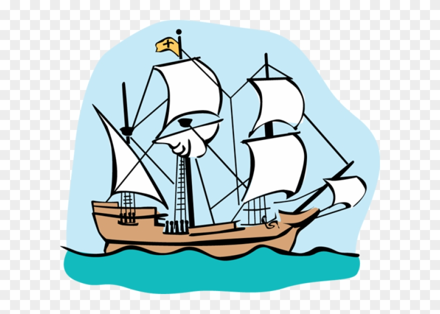 Mayflower clipart simple ship. Colonial clip art