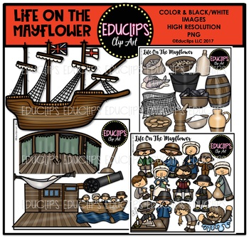 Life on the clip. Mayflower clipart water