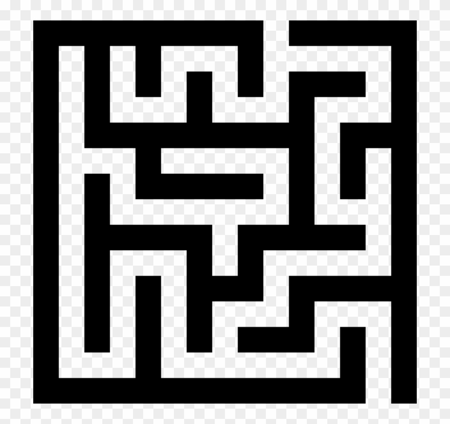 Maze clipart. Tiny labyrinth puzzle game
