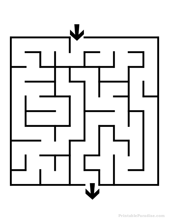 Eazy pencil and in. Maze clipart