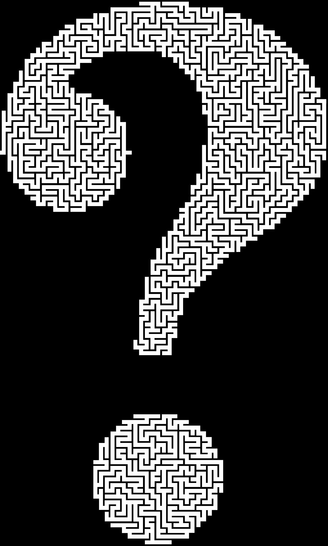 Maze clipart brain. Question mark big image