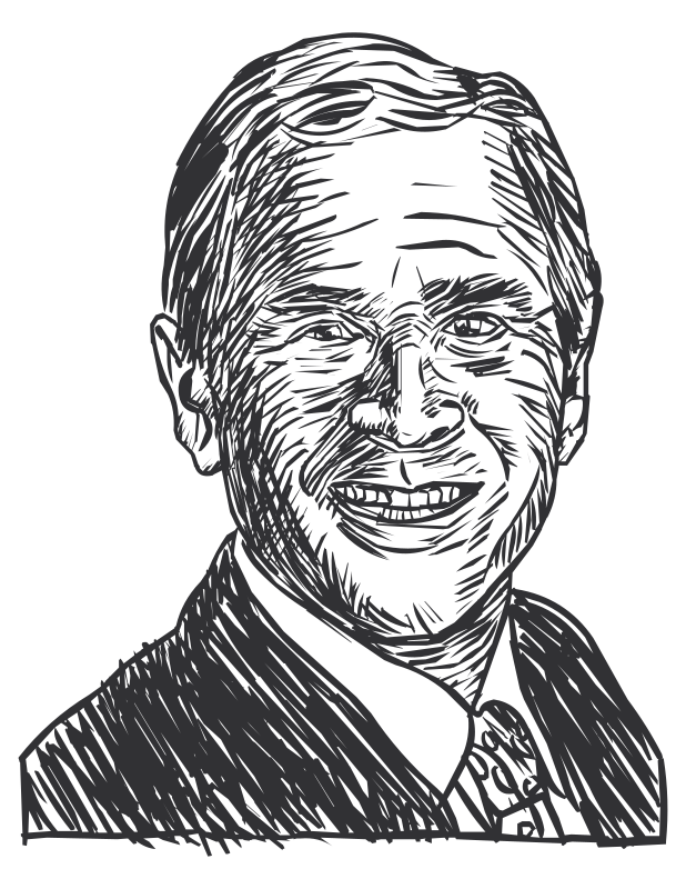Words clipart president. George w bush drawing