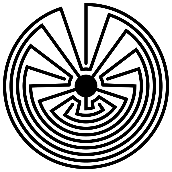 Hopi labyrinth native american. Maze clipart bush