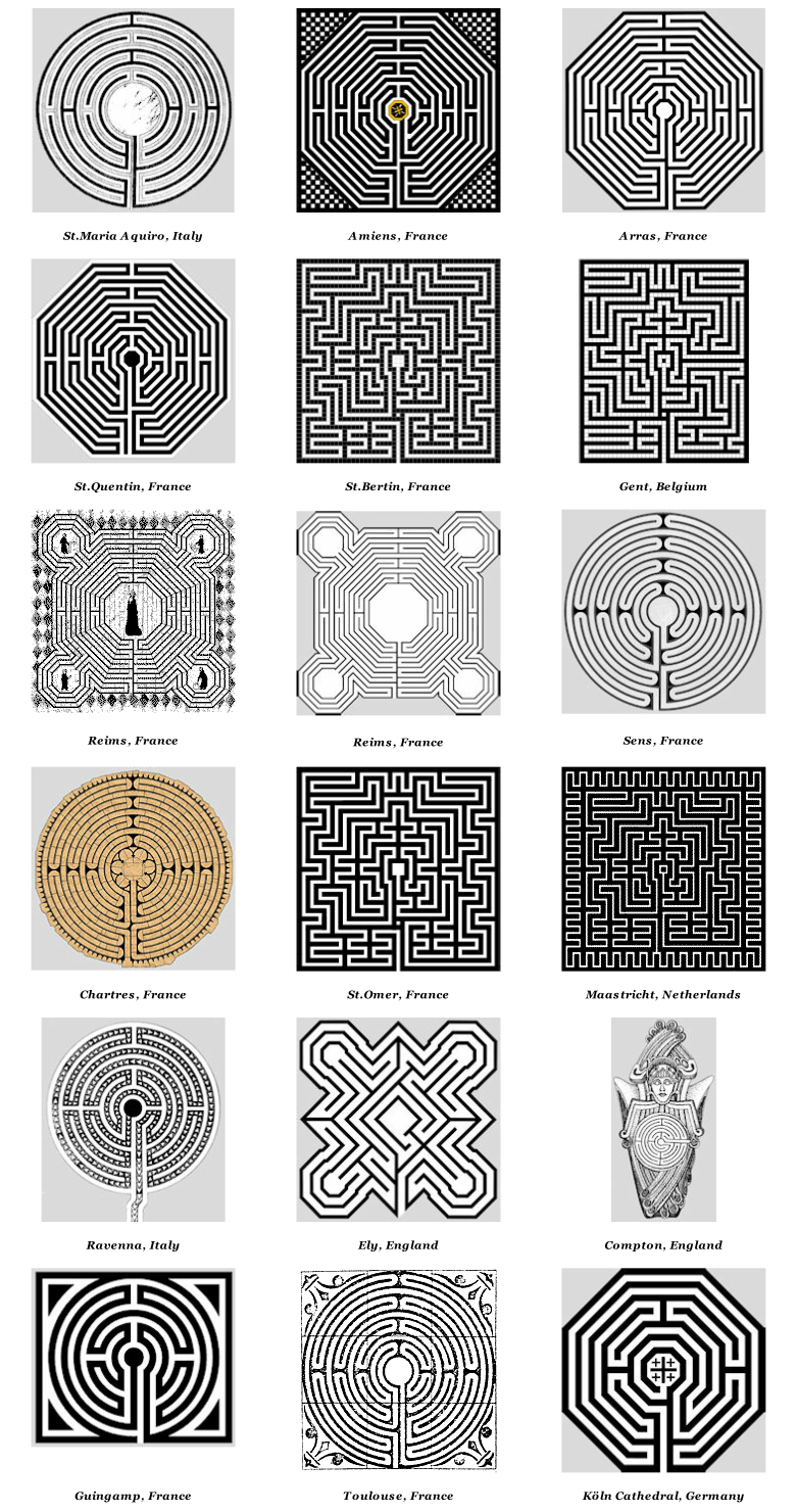 Church cathedral labyrinths graphics. Maze clipart complicated