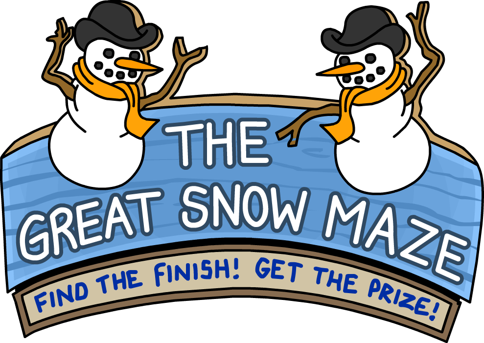 Maze clipart forest. The great snow club