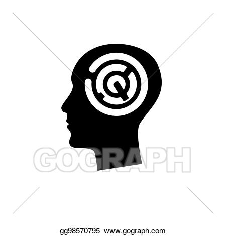 Vector art head with. Maze clipart human