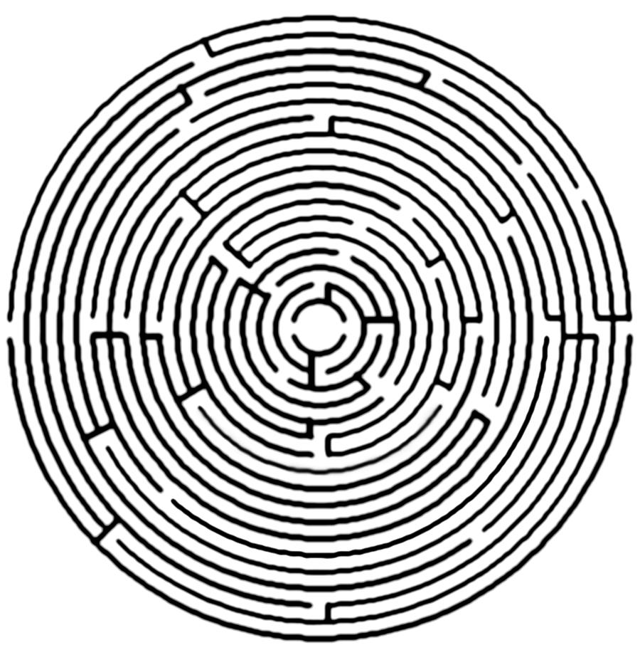 Maze clipart line art. Book black and white