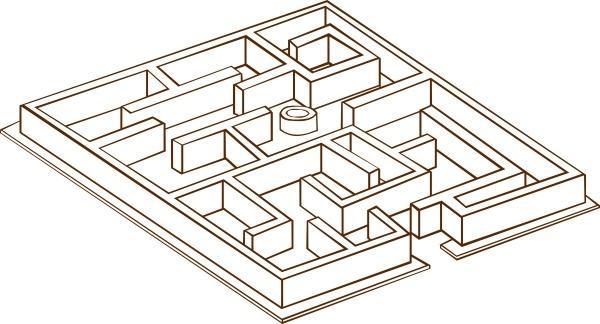 Clip free vector in. Maze clipart line art