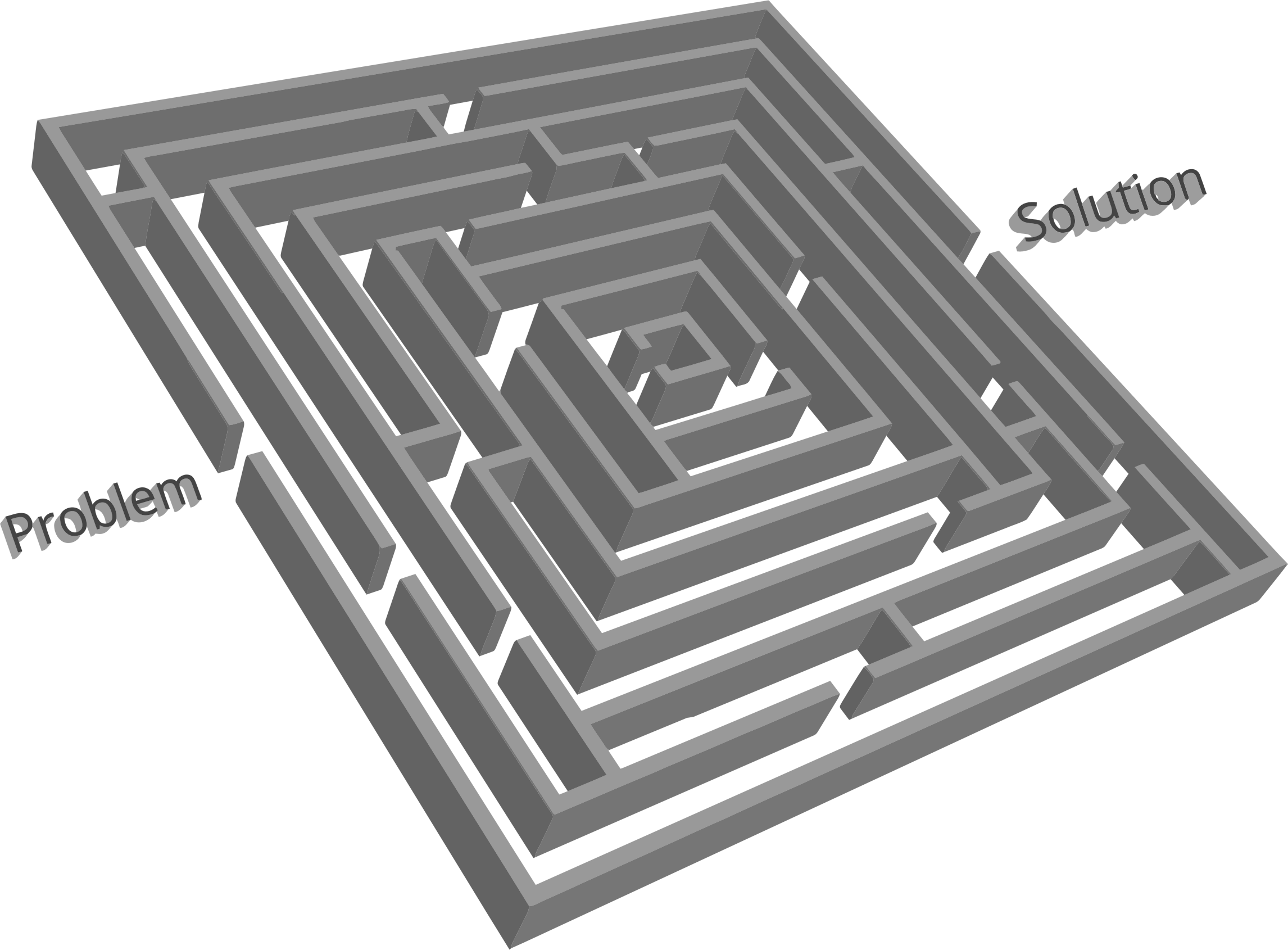 Puzzle clipart structure. D problem solution maze