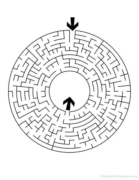 Round printable save for. Maze clipart medium difficulty