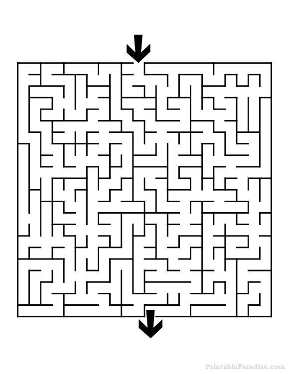Maze clipart medium difficulty. Printable square mazes