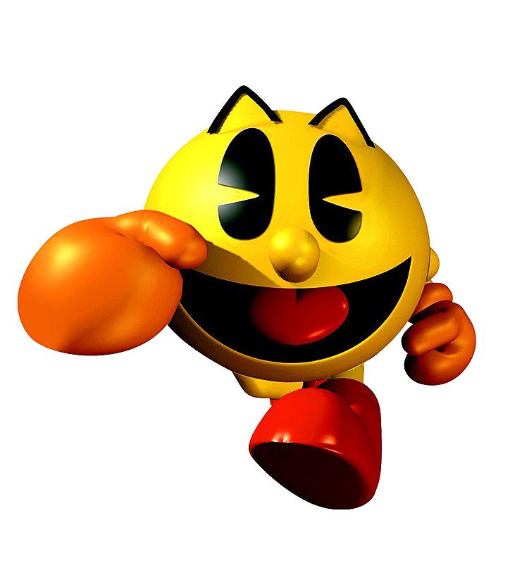 Pacman clipart orange. Pac man character nintendo