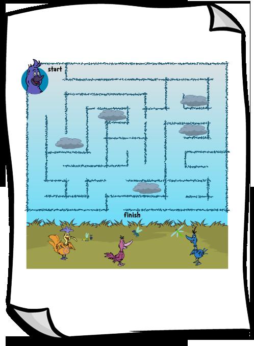 Melvin s migration coloring. Maze clipart printable