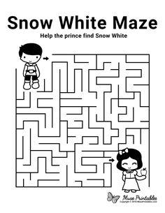 Maze clipart snow white.  best mazes images
